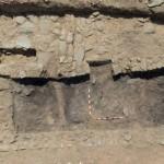 Fig.2. Nivel de incendio debajo del derrumbe de la techumbre.