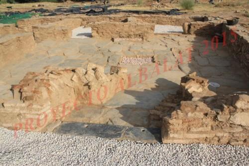 Détail de la Maison 1 en cours de restauration (© projet Albalat, 2015)